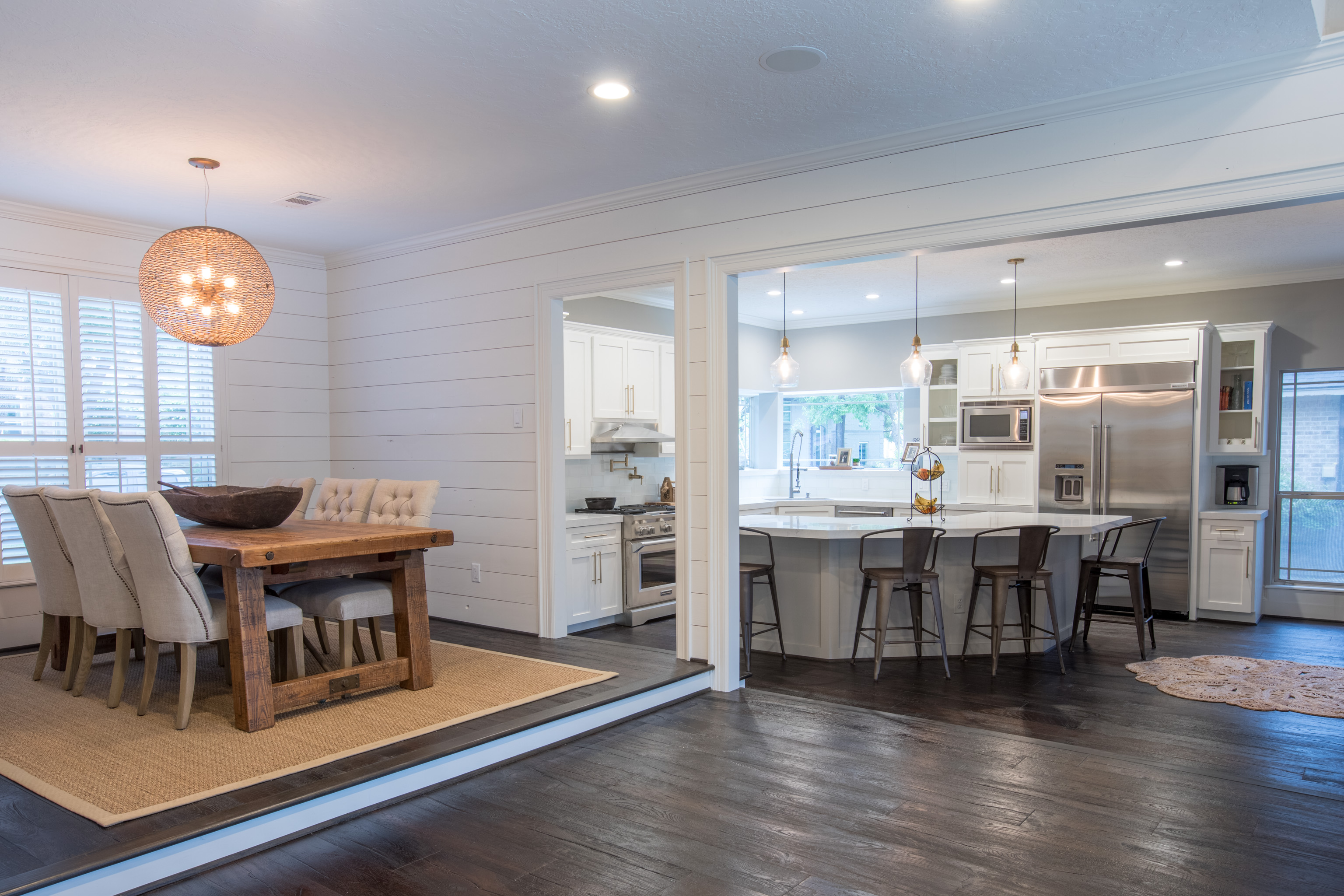 custom remodel kitchen and dining room