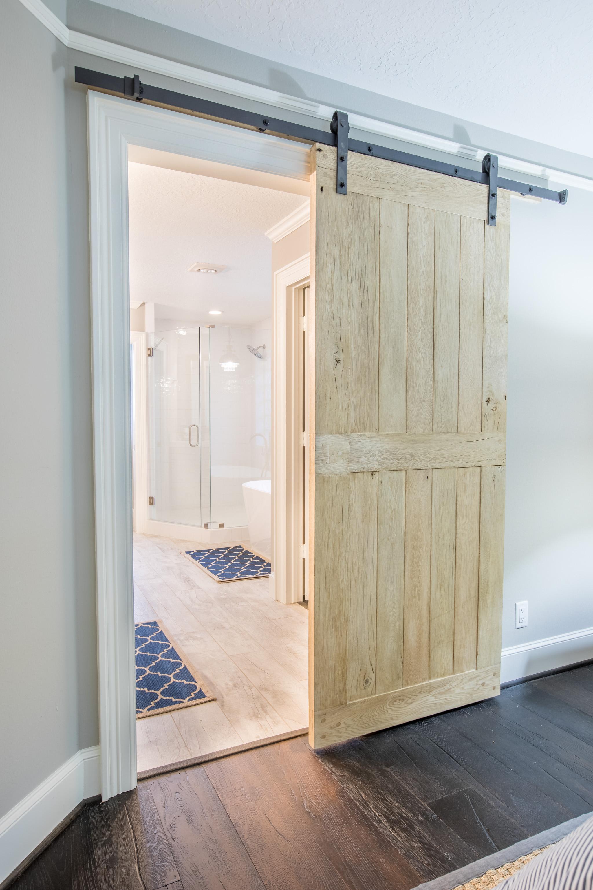 custom bathroom barn door